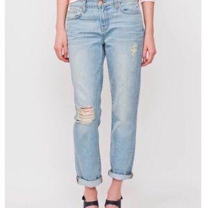 J BRAND Aiden Distressed Boyfriend Jeans Size 27